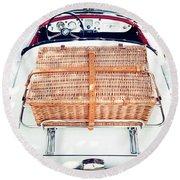 1956 Mga Roadster Round Beach Towel