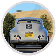 1956 Porsche 356a Rear Round Beach Towel