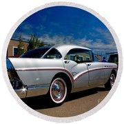 1957 Buick Century Round Beach Towel