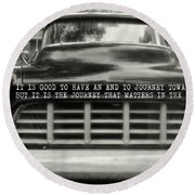 1957 Chevy Quote Round Beach Towel by JAMART Photography