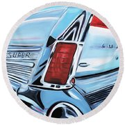 1958 Buick Super Round Beach Towel