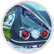 1958 Reflections Round Beach Towel