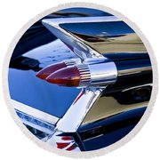 1959 Cadillac Coupe Deville  Round Beach Towel