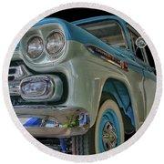 1959 Chevrolet Apache Round Beach Towel