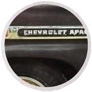 1959 Chevy Apache Round Beach Towel
