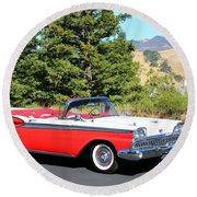1959 Ford Fairlane 500 Round Beach Towel