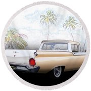1959 Ford Ranchero 1st Generation Round Beach Towel