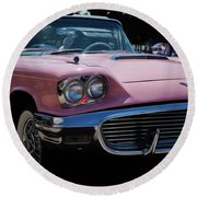 1959 Ford Thunderbird Convertible Round Beach Towel