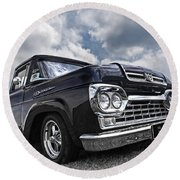 1960 Ford F100 Truck Round Beach Towel