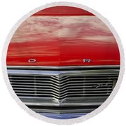 1960s Ford Galaxie Round Beach Towel by Robin Lewis