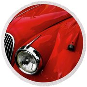 Round Beach Towel featuring the photograph 1960s Jaguar by M G Whittingham