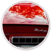 Round Beach Towel featuring the photograph 1967 Mustang by M G Whittingham