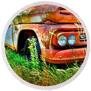 1961 Chevrolet Apache 10 5 Round Beach Towel