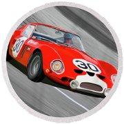1962 Ferrari 250 Gto Round Beach Towel by Wally Hampton