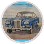 1963 Bentley Continental S3 Coupe Round Beach Towel