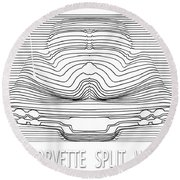 63 Split Window Abstract Round Beach Towel