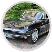 1963 Corvette Split Window Coupe Round Beach Towel