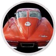 1963 Corvette Stingray Split Window Rear Round Beach Towel