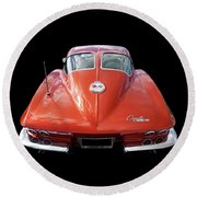 1963 Corvette Stingray Split Window Rear Round Beach Towel