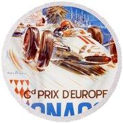 1963 F1 Monaco Grand Prix  Round Beach Towel