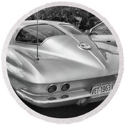 1963 Split Rear Window Coupe Round Beach Towel