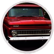 Round Beach Towel featuring the photograph 1964 Chevrolet Pick Up by Baggieoldboy