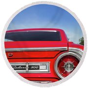 1964 Ford Galaxie 500 Taillight And Emblem Round Beach Towel