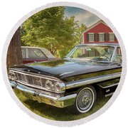 1964 Ford Galaxie 500 Xl Round Beach Towel