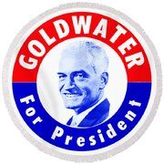 1964 Goldwater For President Round Beach Towel by Historic Image