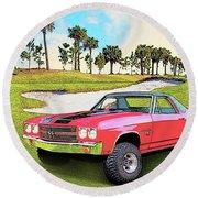 1970 Chevy El Camino 4x4 Not 2nd Generation 1964-1967 Round Beach Towel