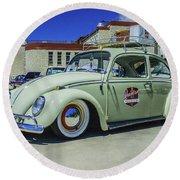 1965 Volkswagen Bug Round Beach Towel