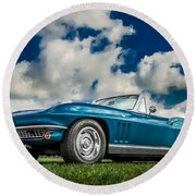 1966 Corvette Stingray  Round Beach Towel