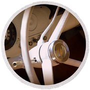 1966 Ford F100 Interior Round Beach Towel
