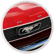 1966 Ford Mustang Round Beach Towel