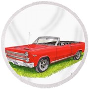 Round Beach Towel featuring the painting 1966 Mercury Cyclone Convertible G T by Jack Pumphrey