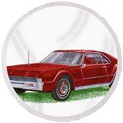 1966 Oldsmobile Toronado Round Beach Towel by Jack Pumphrey