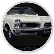 1966 Pontiac Gto Convertible Round Beach Towel