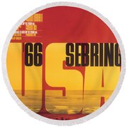 1966 Porsche 12 Hours Of Sebring Round Beach Towel