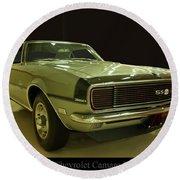 1968 Chevy Camaro Rs-ss Round Beach Towel