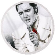 1968 White If I Can Dream Suit Round Beach Towel