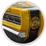1969 Super Bee Round Beach Towel