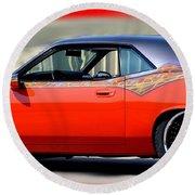 1970 Dodge Challenger Srt Round Beach Towel