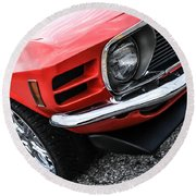 1970 Ford Mustang Round Beach Towel