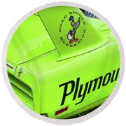 1970 Plymouth Superbird Round Beach Towel by Gordon Dean II