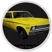 1971 Chevy Nova Yenko Deuce Round Beach Towel
