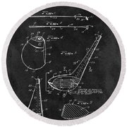 1971 Golf Club Blueprint Illustration Round Beach Towel