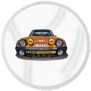 1971 Porsche 914-6 Round Beach Towel
