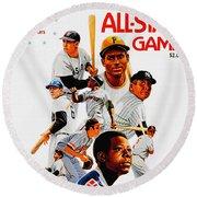 1974 Baseball All Star Game Program Round Beach Towel