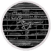 1977 Mustang Grill Round Beach Towel
