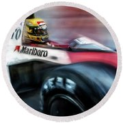 Racing 1989 Monaco Grand Prix Round Beach Towel
